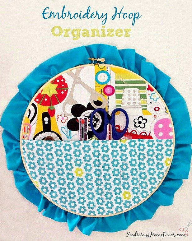 Sewing Embroidery Hoop Organizer