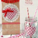 Valentine Treat Bags with Matching Mason Jars