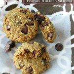 Cherry Filled Chocolate Chips Peanut Butter Oatmeal Flourless Cookies