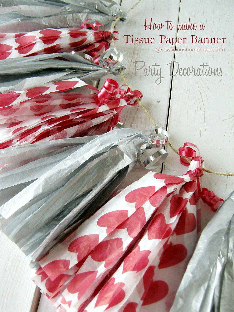 DIY Tissue Paper Tassels Banner Party Decorations