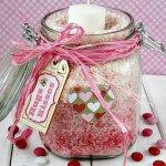 Pink Ombre Valentine Rice Jars