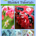 No Sew Fleece Blanket Tutorial with A Free Downloadable eBook