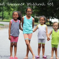 Coconut Summer Pajama Set for Riley Blake