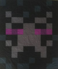 Enderman quilt DIY