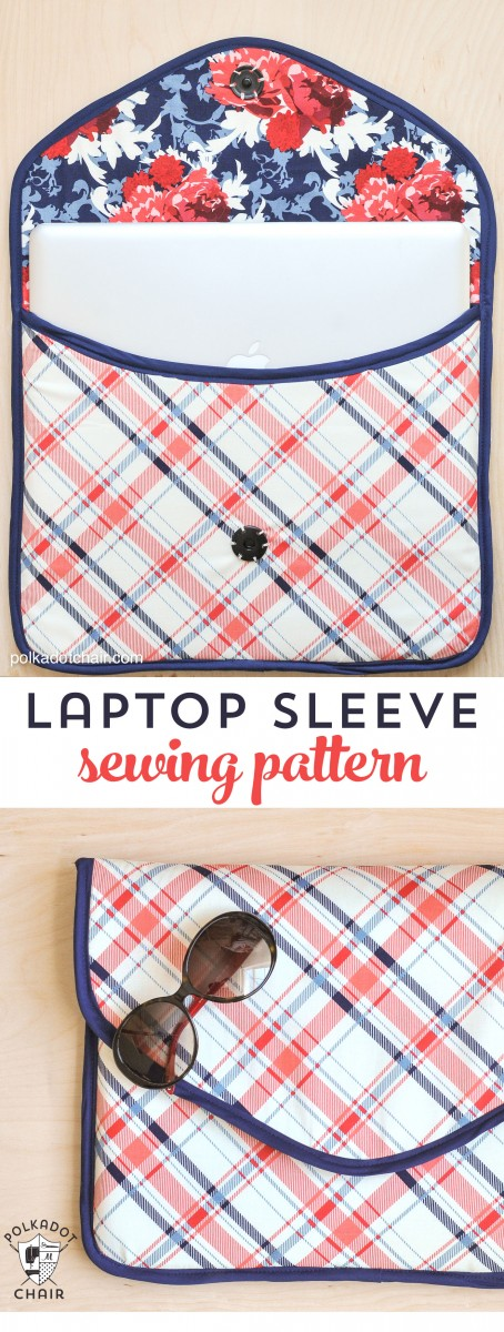 How to make your own padded laptop sleeve.  I'm making a smaller one for my tablet and then another in fishing fabric for my guy!  Easy to follow step by step tutorial.