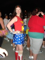 2012 Disney Princess Half Marathon - Aimee as Wonder Woman