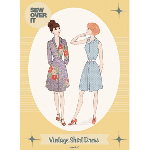Sew Over It Vintage Shirt Dress-I love her patterns, plus I have a new found love of shirtdresses. Can't wait to get this one going.