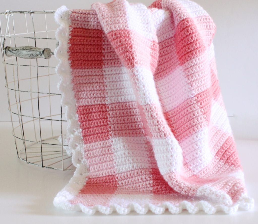 Crocheted Baby Blankets The Best Free Crochet Baby Blankets For Girls Sewrella