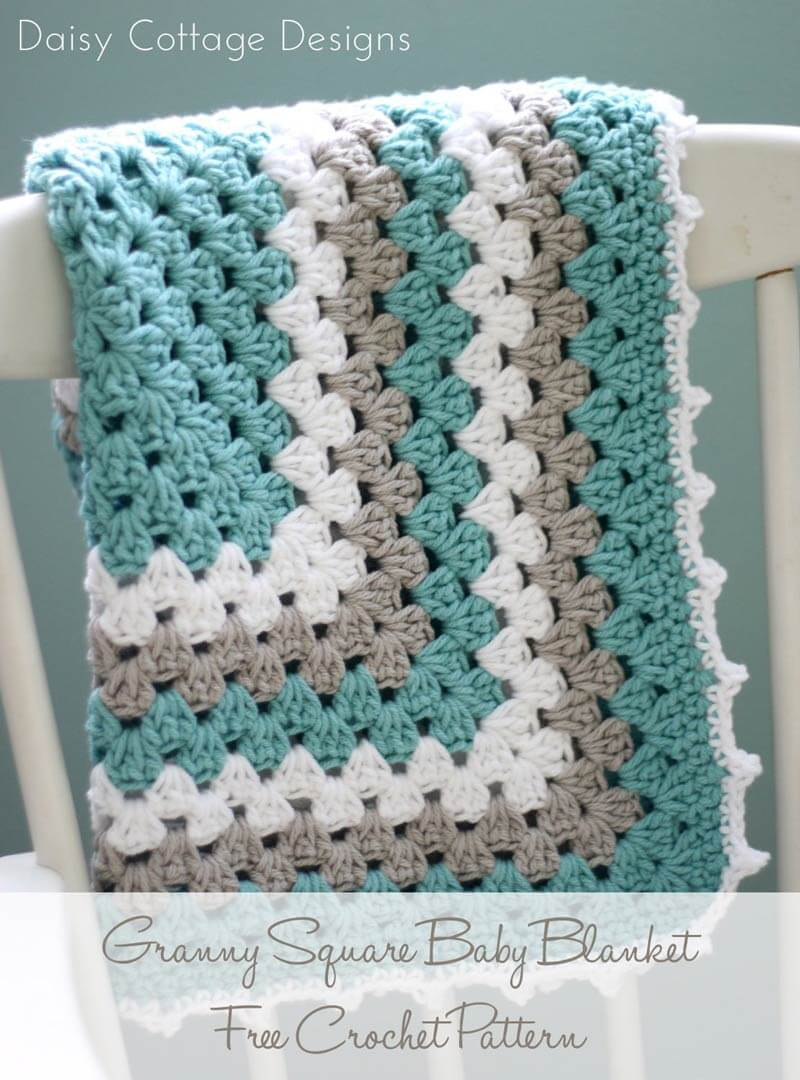 Crocheted Baby Blankets Crochet Baby Blankets For Boys Sewrella