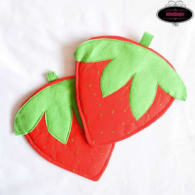 How To Sew Strawberry Pot Holders Super Easy Tutorial