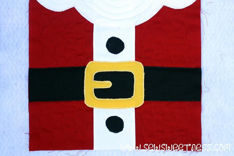 12 Days of Christmas\u0027 Block 2 Santa Claus - Sew Sweetness