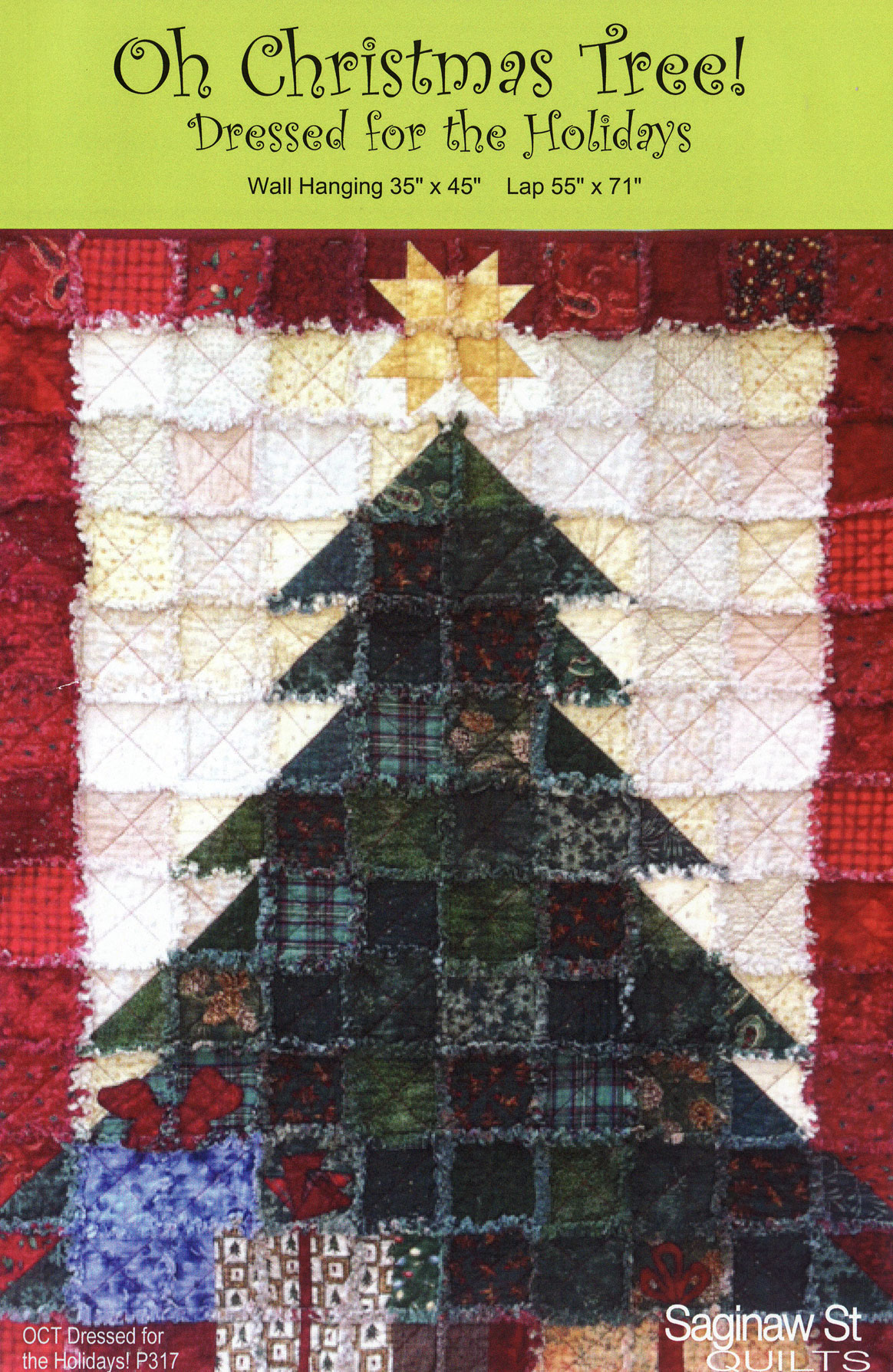 Pinterest Christmas Quilted Wall Hangings Oh Christmas Tree Dressed For The Holidays Quilt Sewing Pattern From Saginaw St Quilts