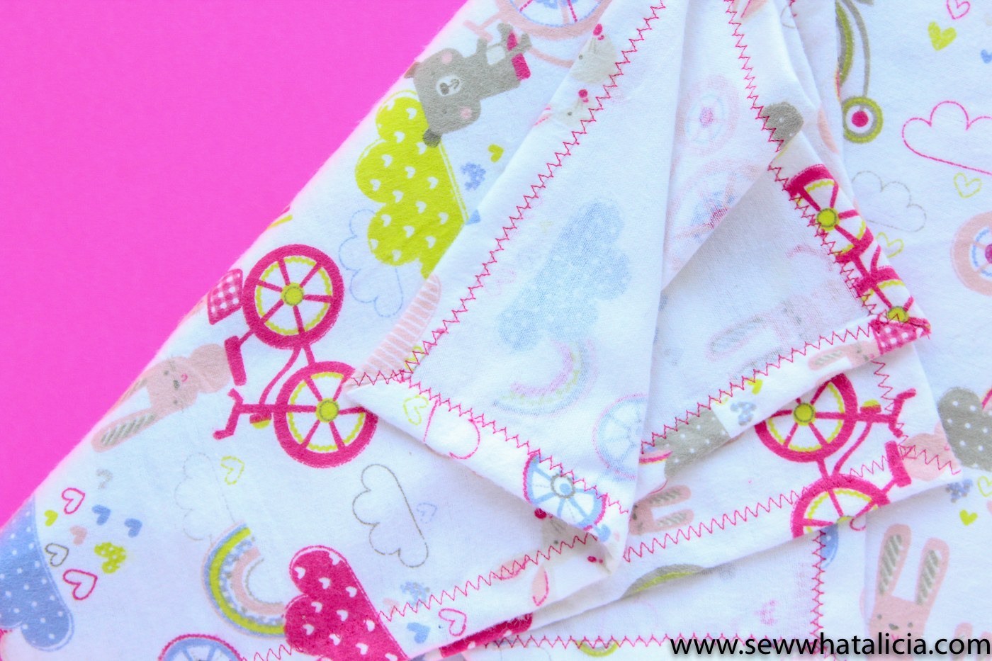 How To Make A Baby Blanket How To Make A Baby Blanket Sew What Alicia