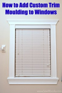 {Video} How to Add Custom Trim Moulding to Windows - Sew ...