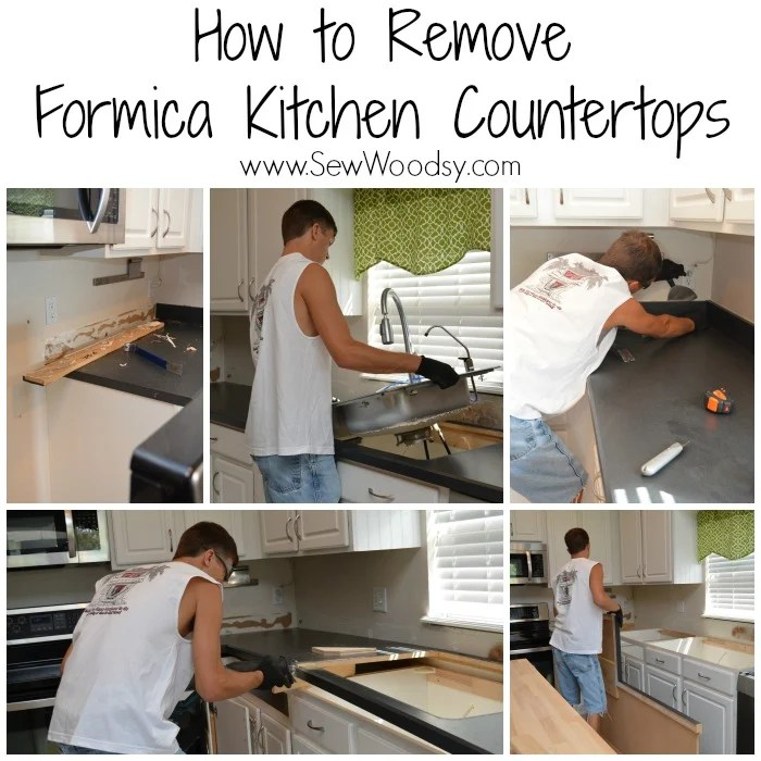 How to Remove Formica Kitchen Countertops - Sew Woodsy