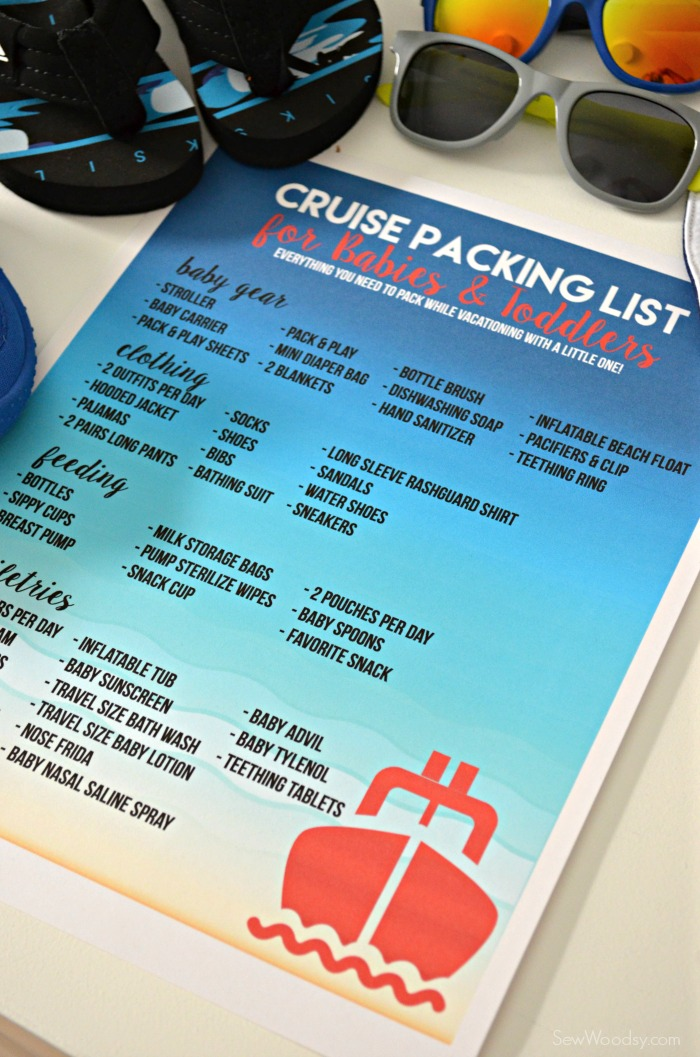 Cruise Packing List for Babies  Toddlers Sew Woodsy