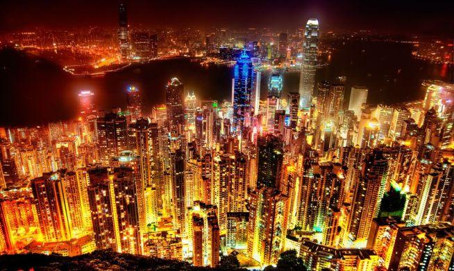 香港の夜景の画像