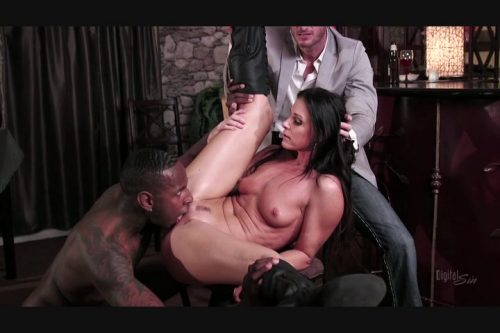 Sexy India Summer Gets Her Pussy Stuffed with a Big Black Pole