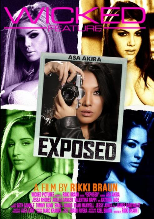 Exposed, Porn Movie, Wicked Picture, Rikki Braun, Asa Akira, Jessa Rhodes, Abella Danger, Valentina Nappi, Katrina Jade, Seth Gamble, Tommy Gunn, Small Hands, Isiah Maxwell, Jessy Jones, James Bartholet, Adult DVD, Couples, Feature