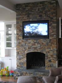 Stacked Stone For A Fireplace