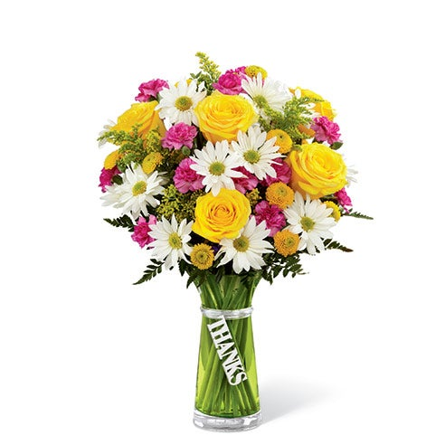 Bright amp cheery thank you flowers at send flowers