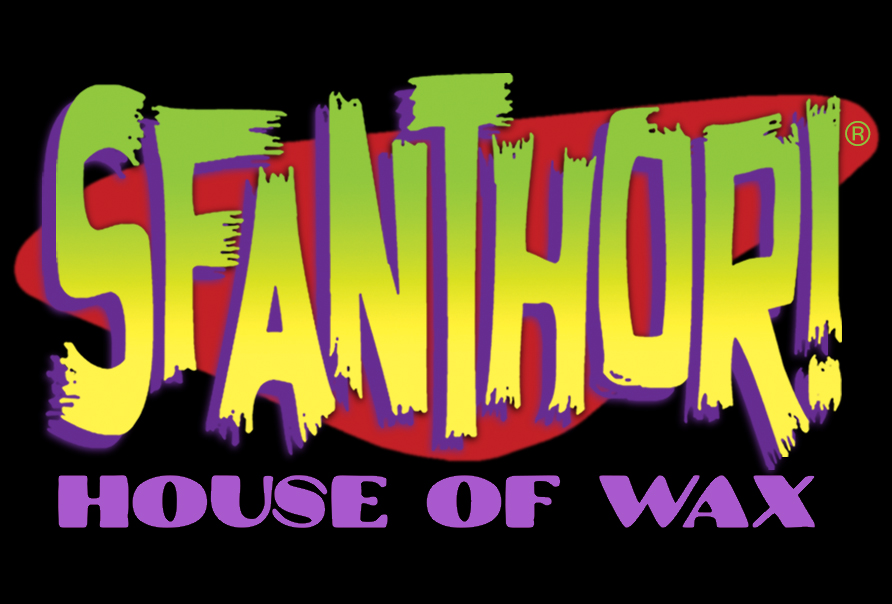 Sfanthor House of Wax color logo on black