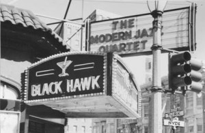 Geoffrey Grier's Recovery Theater brings the old Black Hawk jazz club back to life with shows April 17 through May 9 and a gala reception after the May 9 matinee featuring musicians who performed at the original Black Hawk.