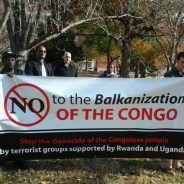 Congolese and their allies marched and rallied outside the White House protesting the M23takeover of Goma to allow ever greater plundering of the Congos mineral wealth and the accompanying violence that has taken over 6 million lives since 1996  at the rate of 1,174 deaths a day  more than half of them children.  Photo: Joseph Mbangu