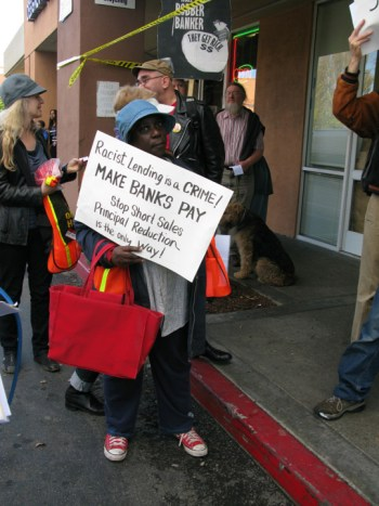 Occupy Our Homes protest 'Racist Lending is a Crime' BVHP Wells Fargo 120612