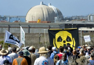 Anti-nuke rally near San Onofre 1st anniversary Fukushima 031112 by Michael Goulding, Orange County Register