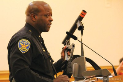 SFPD Commander Mikael Ali discusses tasers Police Comm'n 080112 by David Elliot Lewis