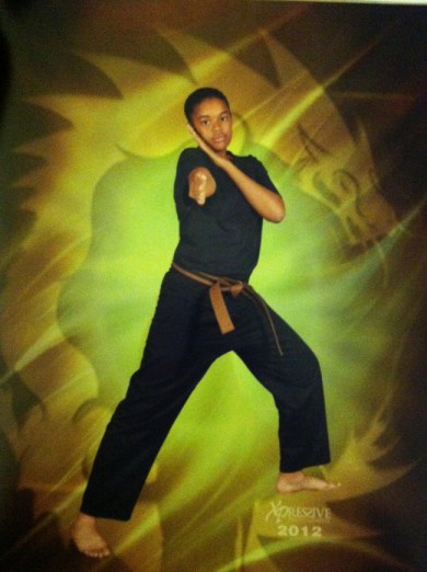 Tamia Hooker, black belt in Kajukenbo