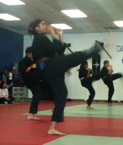Tamia Hooker works out at Delta One Martial Arts, Antioch