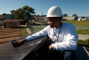 Treasure Island Job Corps Solar Photovoltaic (PV) and Thermal System Installer student