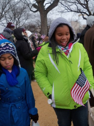 Wanda's niece Wilda Batin, granddaughter Bianna (Bree) on Wash. Mall Inauguration 012113 by Wanda