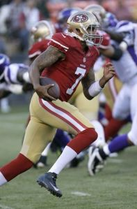 Colin KaepernickGÇÖs Usain Bolt-like stride