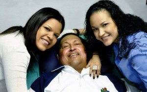 Hugo Chavez, daughters in Cuba hospital 021413 by Prensa Presidencial
