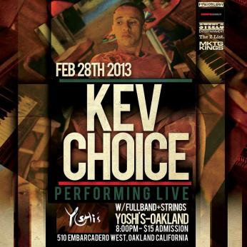 Kev Choice at Yoshi's 022813 poster