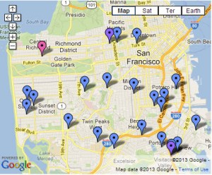 Urban Orchards program fruit tree planting locations 0113