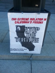 Assembly hearing on SHUs 'Stop the Torture' poster 022513 by Bami Iroko