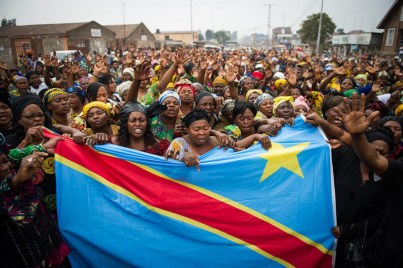 TOPSHOTS Congolese women demonstrate for