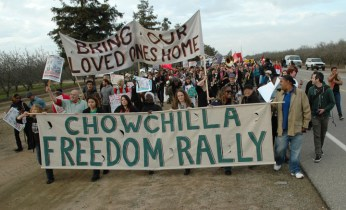 Chowchilla Freedom Rally march 'Bring our loved ones home' 012613, web