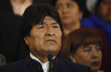 Evo Morales says on TV he felt 'destroyed' at news of Hugo Chavez' death 030513 by Juan Karita, AP