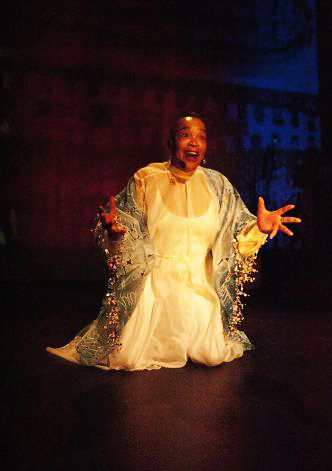 Rhodessa Jones in 'The Resurrection of SHE' by Anastacia Powers Cuellar