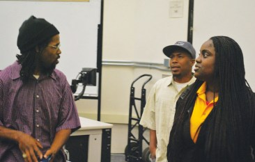 Cynthia McKinney Tour Tim Killings, JR, new BSU pres Niyesha 042413 Laney by Darnisha Wright