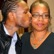 Malcolm Shabazz kisses mother Qubilah his 26th b'day party 100910 by JR(1)