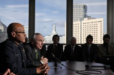 OPD Chief Howard Jordan, consultant William Bratton press conf 030613 by Avila Gonzalez, SF Chron