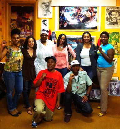 Shesheena, Keita, Baseemah, Goldii, Daly, Stephanie, JR, Malcolm at UNIA-ACL office Philly by BRR, web