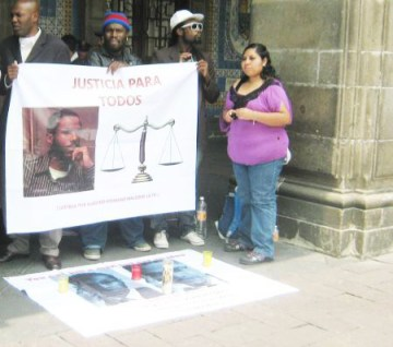 Mexico City Afro-Mexicans' hunger strike demand justice for Malcolm Shabazz 070513