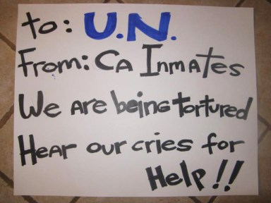 UN petition press conf 'To UN from CA inmates, We are being tortured' LA State Bldg 032012 by Alma Espinosa